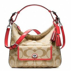 Coach Legacy Signature Courtney Crossbody Hobo Bag